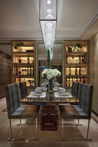 80平米三室两厅现代简约风格餐厅背景墙图片大全