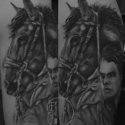 作品--战马纹身图