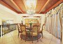 5-10万140平米四室四厅田园风格餐厅设计图