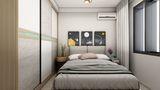 50平米宜家风格卧室设计图