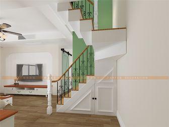 140平米四室三厅田园风格楼梯间图片