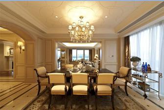 140平米四室两厅美式风格餐厅背景墙装修图片大全