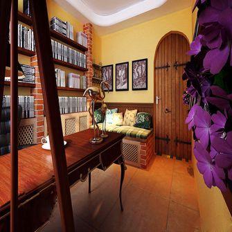 5-10万110平米三室一厅田园风格影音室图