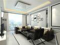 80平米现代简约风格客厅沙发效果图