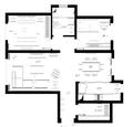 两房现代简约风格装修效果图