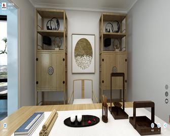 100平米三室一厅现代简约风格书房图片大全
