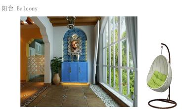 140平米四室一厅地中海风格阳台设计图