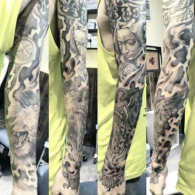 欧美花臂纹身图