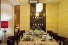 140平米四室三厅现代简约风格餐厅壁纸图片