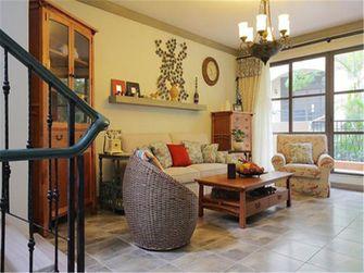 富裕型140平米四室一厅田园风格客厅装修案例