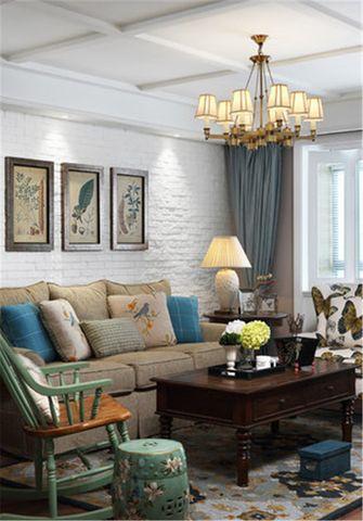 豪华型130平米四室一厅田园风格客厅效果图