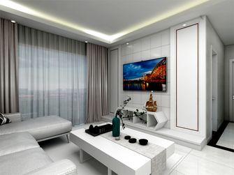 90平米四室一厅现代简约风格客厅效果图