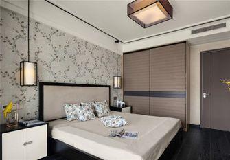 110平米三中式风格卧室背景墙效果图