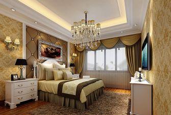 140平米三室两厅欧式风格卧室飘窗图片