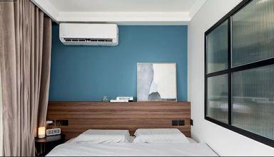 50平米一室两厅现代简约风格卧室设计图