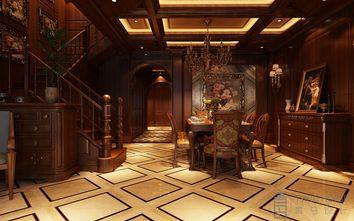 140平米四室四厅英伦风格餐厅效果图