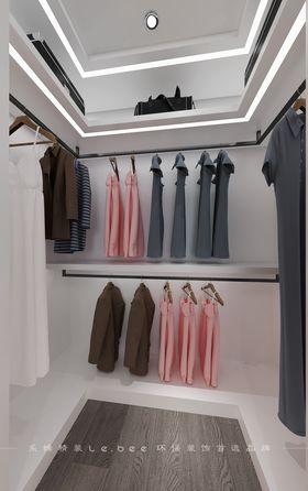 80平米三室兩廳現代簡約風格衣帽間設計圖