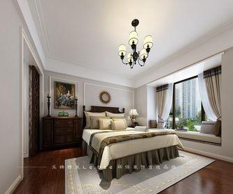 80平米三室两厅美式风格卧室灯饰欣赏图