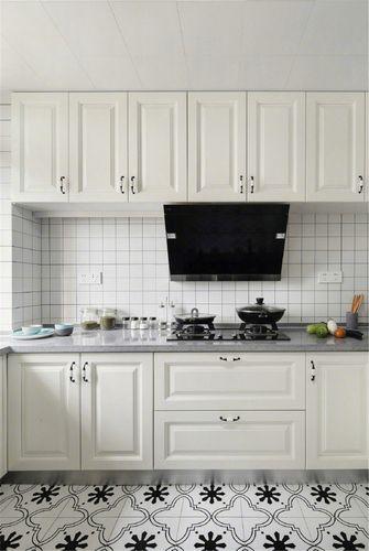 120平米美式风格厨房效果图