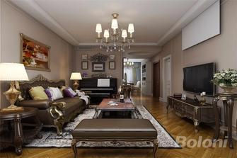140平米三室两厅新古典风格客厅图片大全