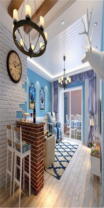 120平米一居室地中海风格客厅欣赏图