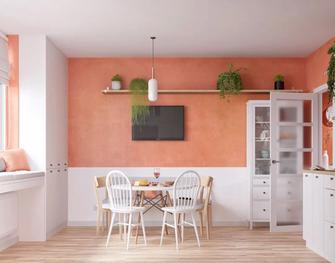 60平米一室两厅混搭风格餐厅图片大全