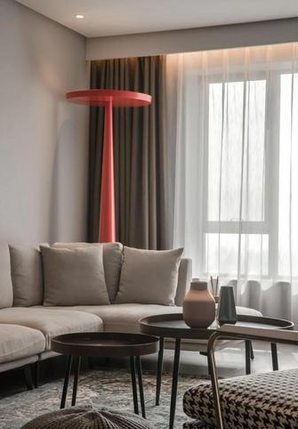 80平米公寓现代简约风格客厅图