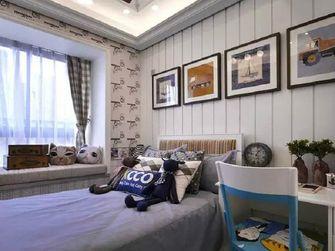 100平米三室两厅美式风格卧室背景墙装修图片大全