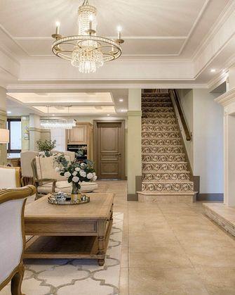 120平米复式田园风格楼梯间装修案例