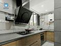 120平米三室两厅英伦风格厨房装修图片大全