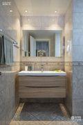 130平米三室两厅现代简约风格卫生间装修案例