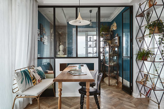 100平米三室三厅法式风格餐厅装修效果图