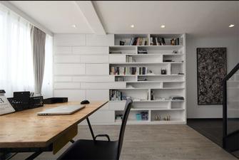 经济型140平米三室一厅混搭风格书房图片大全