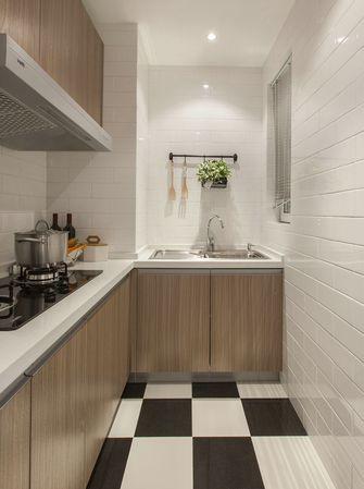 80平米北欧风格厨房橱柜图片