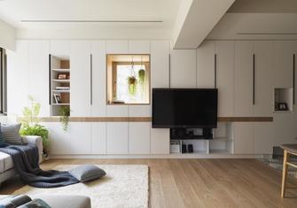 110平米三室三厅混搭风格客厅图