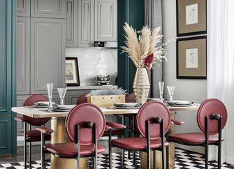 90平米三室三厅其他风格餐厅设计图