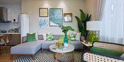 140平米三室一厅东南亚风格客厅设计图