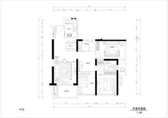 80平米三室两厅法式风格客厅图片
