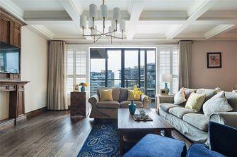 130平米三室两厅中式风格客厅飘窗设计图
