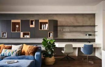 90平米一居室现代简约风格客厅效果图