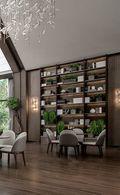 140平米田园风格书房设计图
