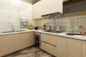 80平米現代簡約風格廚房圖片