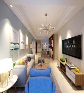 90平米三室一廳北歐風格客廳圖片