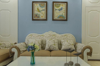 80平米公寓法式风格客厅设计图