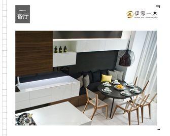 富裕型100平米公寓英伦风格餐厅图