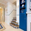 20万以上140平米三室三厅地中海风格楼梯装修效果图