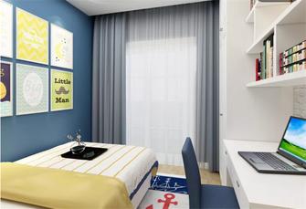 90平米三地中海风格卧室效果图