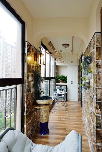 130平米三室两厅美式风格阳台橱柜装修效果图