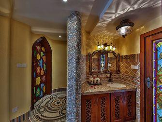 110平米三室两厅地中海风格走廊设计图