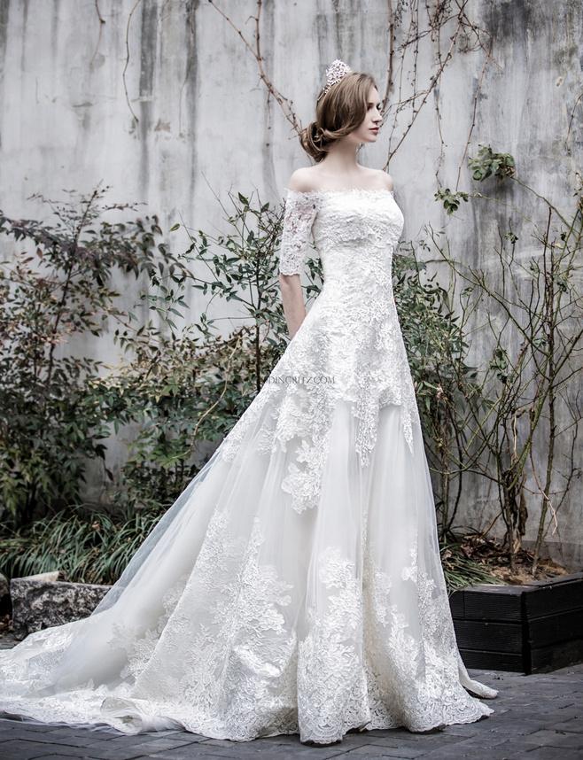 少女的婚纱